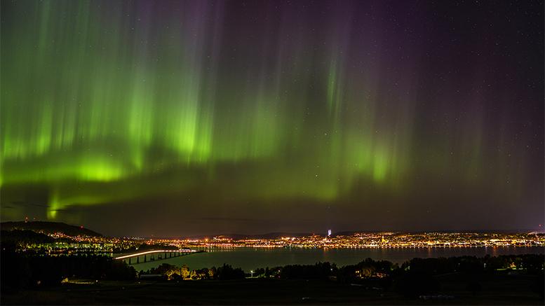 Aurora borealis - Östersund - foto: Tommy Andersson